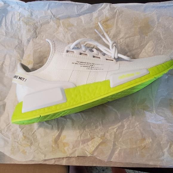 Adidas Shoes Nmdr1 V2 Cloud Whiteneon Poshmark
